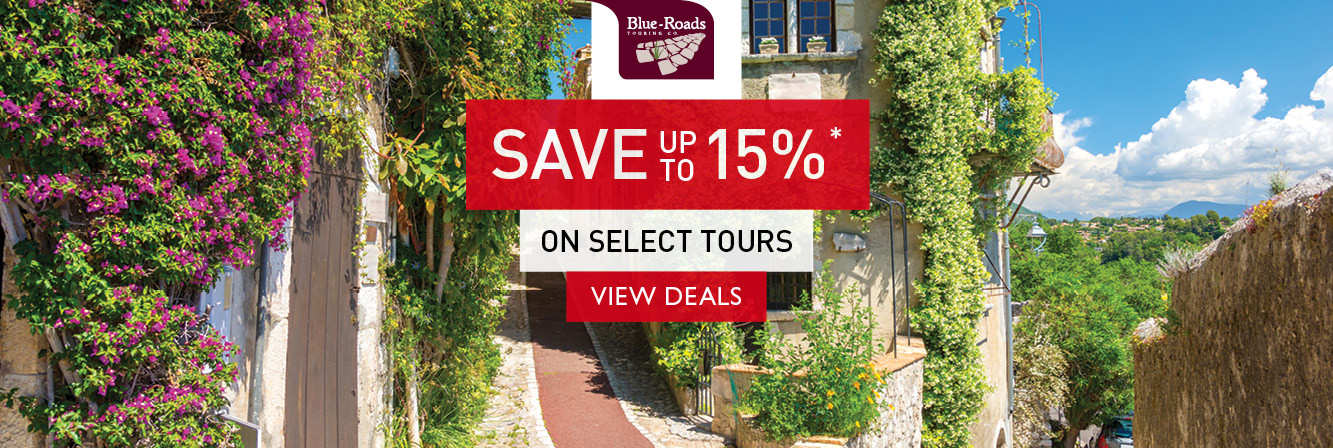 Save up to 15% on select tours with Blue-Roads Touring Co