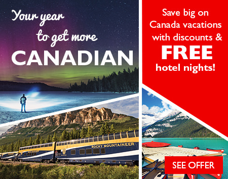 Your year to get more Canadian - Receive FREE hotel stays and more!