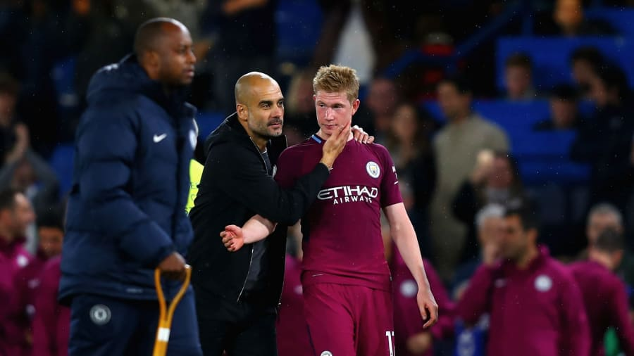 Kevin De Bruyne and Pep Guardiola