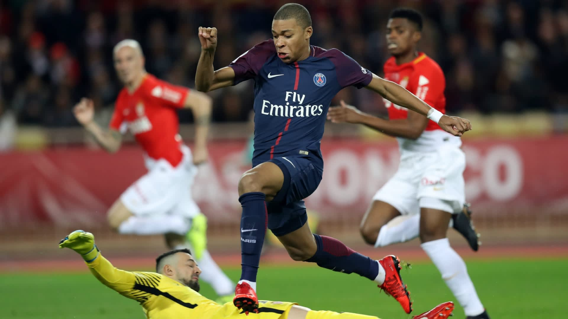 Kylian Mbappe failed to score against AS Monaco, his former team