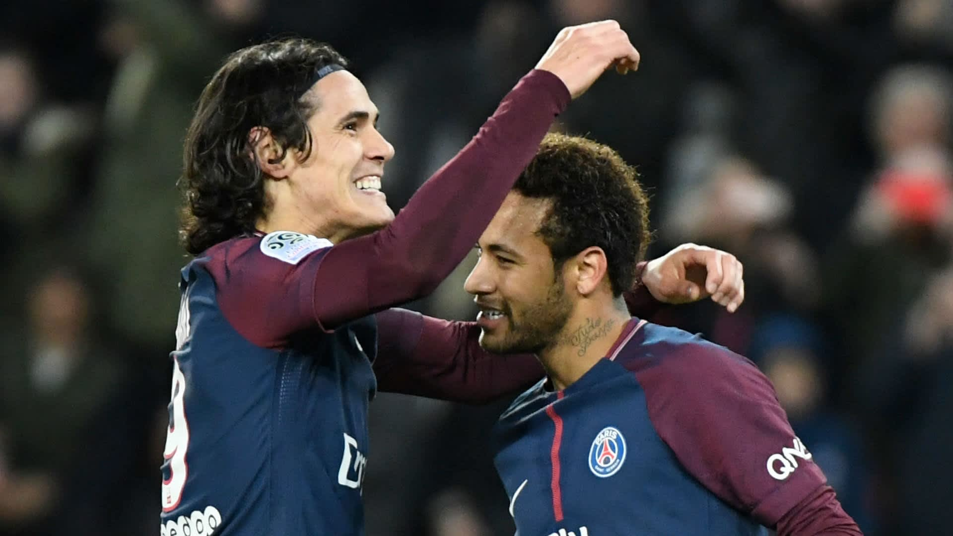 Edinson Cavani and Neymar score for PSG in Ligue 1 derby against As Monaco