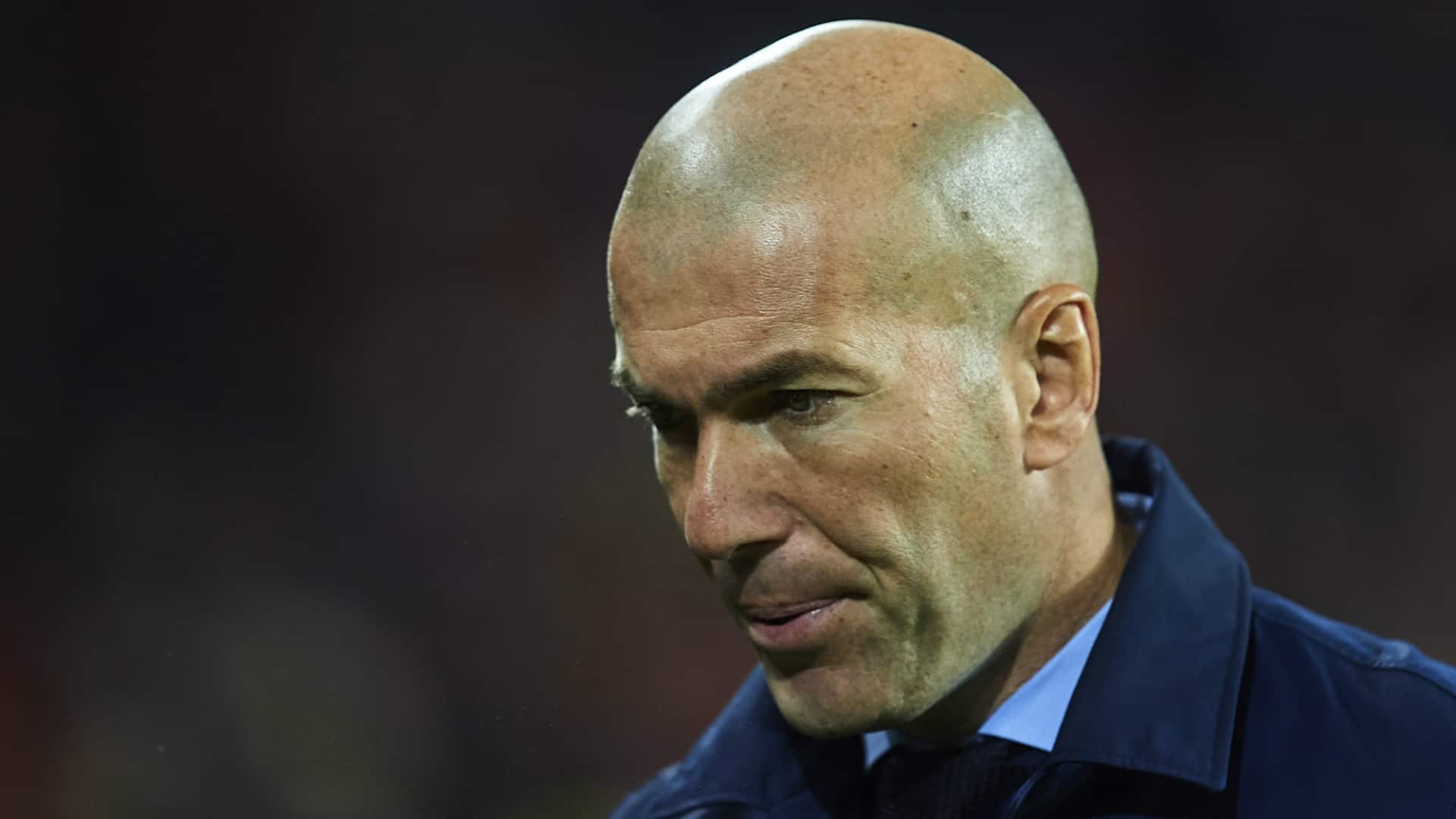 Zidane in deep thought about Ramos' red-card