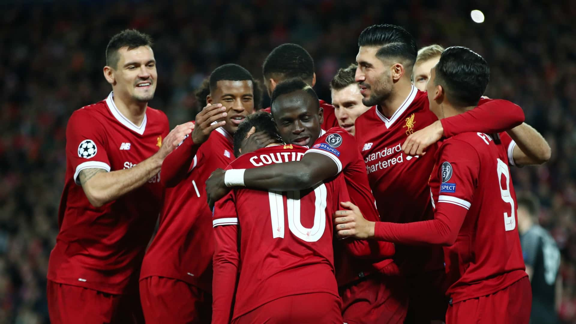 Liverpool celebrate vicotry over Spartak