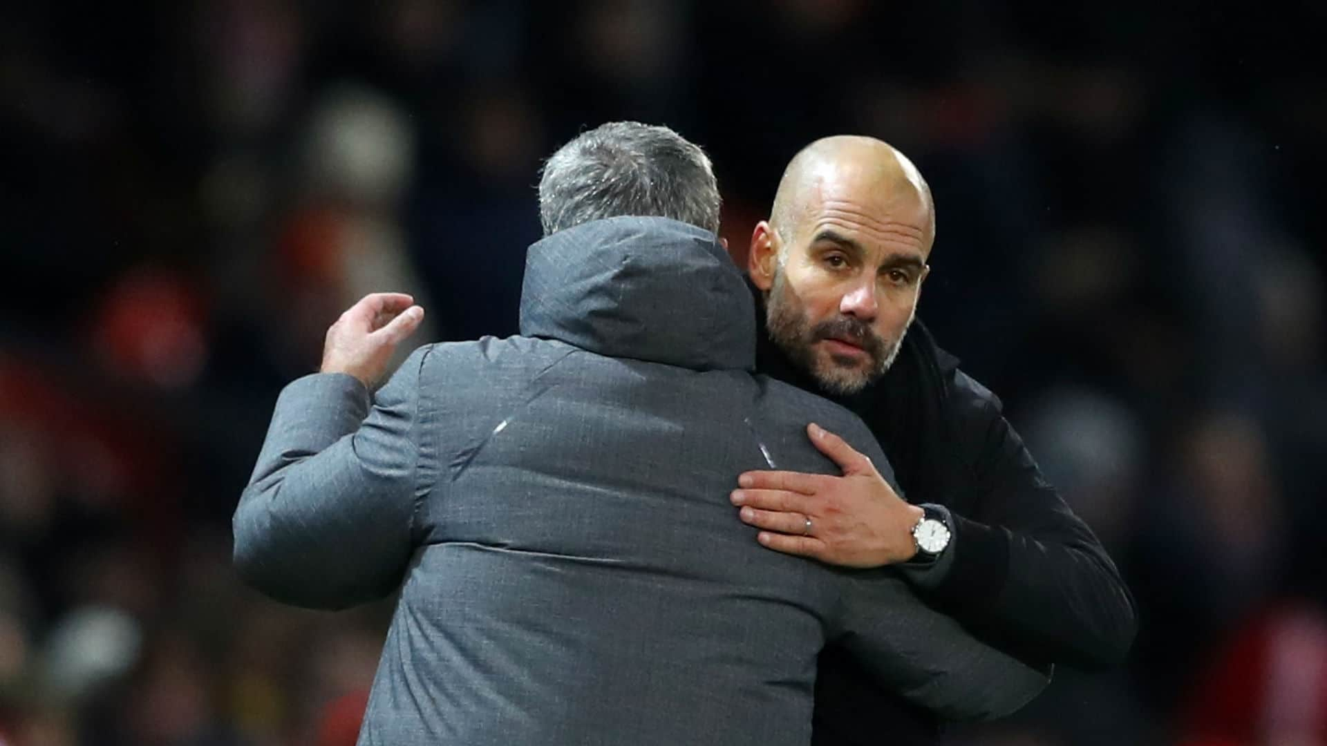 Mourinho and Guardiola - Manchester derby