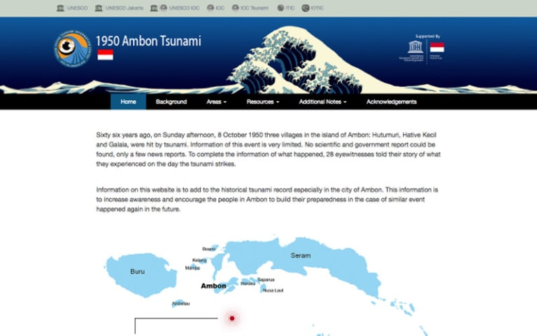 IOTIC - 1950 Ambon Tsunami Website