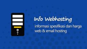 Spesifikasi dan biaya layanan webhosting