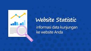 Dimana data kunjungan (web statistic) dapat diakses ?
