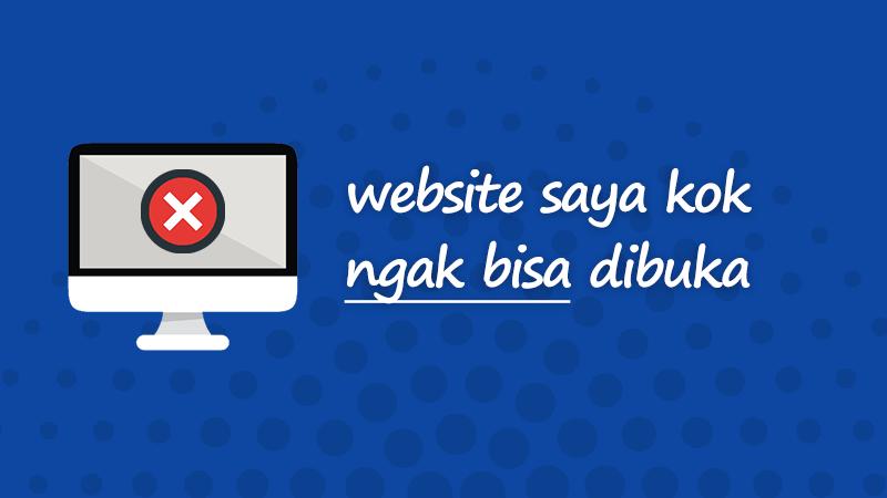 Website saya tidak bisa dibuka tapi website lain bisa