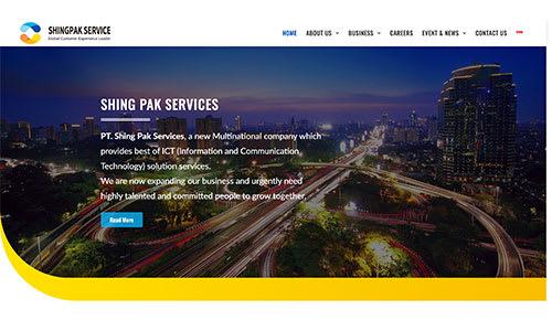 Website Design Client - Shingpak Services