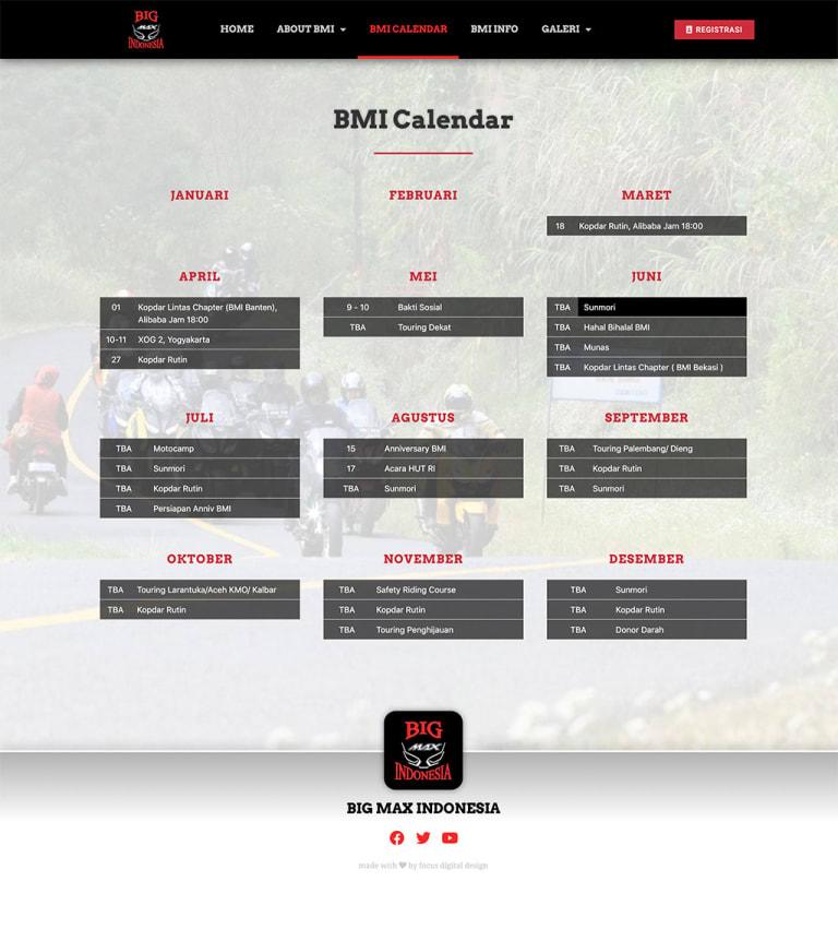 Website Design Client - Big Max Indonesia