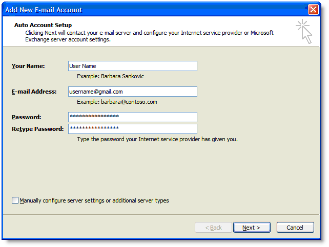 Gmail POP3 & SMTP Server Settings – Final Design Studios