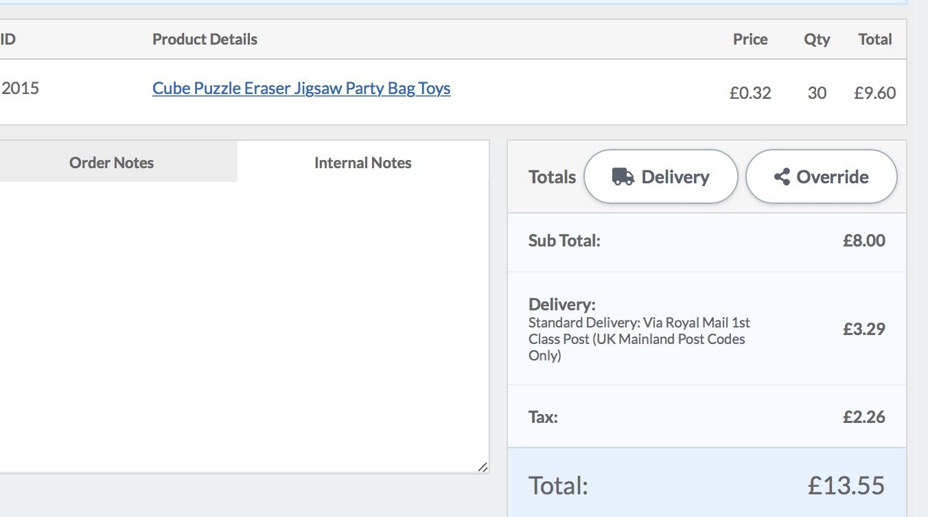 Order sheet on screen the tittle Delivery should change to