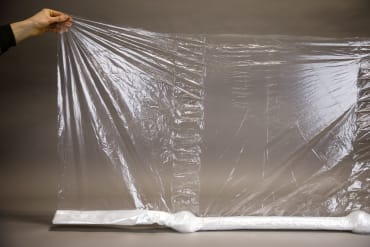 Clear Slitted Plastic Row Cover