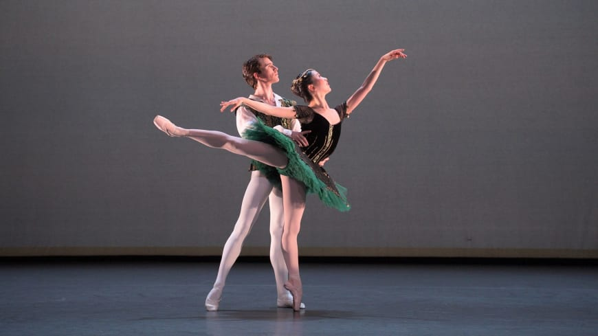 Rina Kanehara and Aitor Arrieta performing the Esmerelda pas de deux