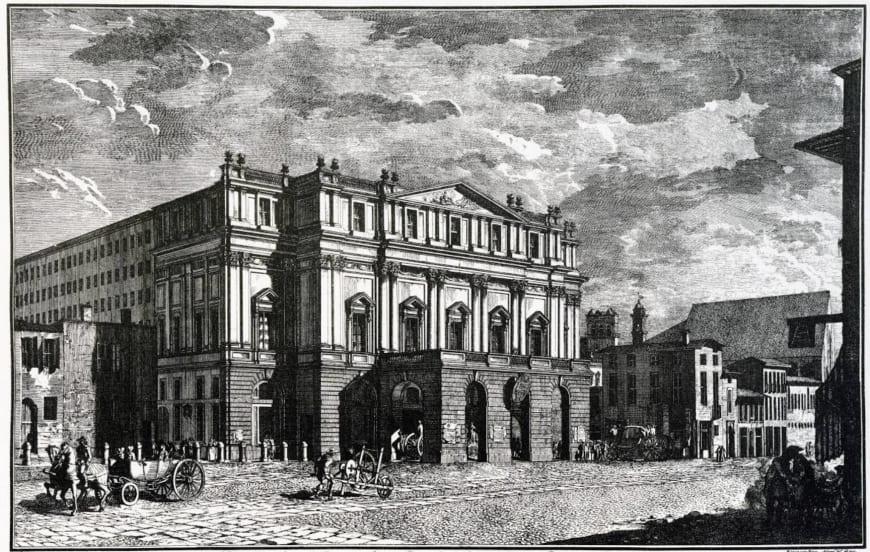 View of the Teatro Grande alla Scala