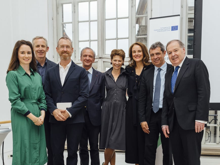 Edilia Gänz (Director of FEDORA), Alistair Spalding (Artistic Director and Chief Executive of Sadler's Wells), William Forsythe (Choreographer of 'A Quiet Evening of Dance'), Jérôme-François Zieseniss (President of FEDORA), Judith Mackrell (FEDORA Ballet Jury Member - Dance Critic at The Guardian), Sibylle Gallardo-Jammes (International Communications Director of Van Cleef & Arpels), Jean-Yves Kaced (Secretary General of FEDORA and Director of the AROP - The Association of Friends and Donors of the Paris National Opera), Nicholas Payne (Director of Opera Europa)
