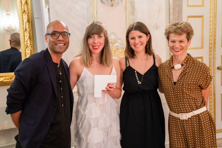 (From left to right) Benoit Swan Pouffer, Artistic Director of Rambert, Helen Searl, Development Director of Rambert, Helen Shute, Chief Executive & Executive Producer,  Judith Mackrell, Dance Writer, The Guardian UK