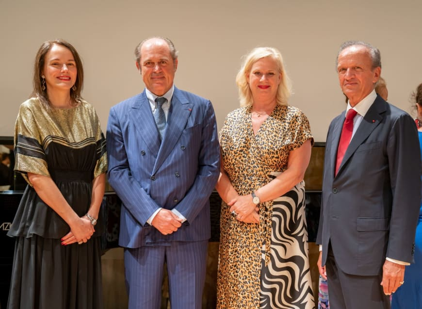(From left to right) Sibylle Gallardo-Jammes, International Communications Director of Van Cleef & Arpels, Philippe Donnet, CEO of Generali Group, Barbara Gessler, Head of Unit Creative Europe of the European Commission, Jérôme-François Zieseniss, President of FEDORA