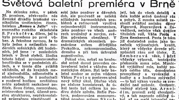 Romeo and Juliet (1938) World Premiere_News_Národní Politika_3. 1. 1939