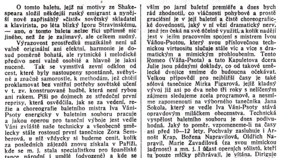 Romeo and Juliet (1938) World Premiere_News_Brněnská Svoboda_x. 1. 1939
