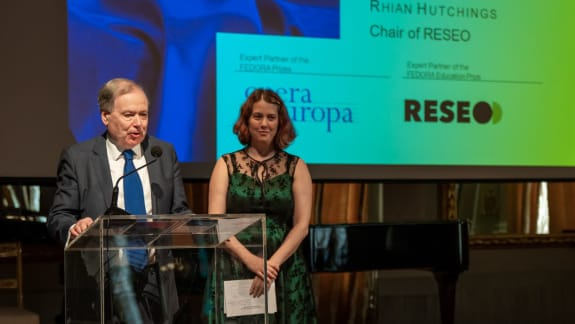 Nicholas Payne, Director of Opera Europa, and Rhian Hutchings, Chair of RESEO - European Network for Opera, Music & Dance Education