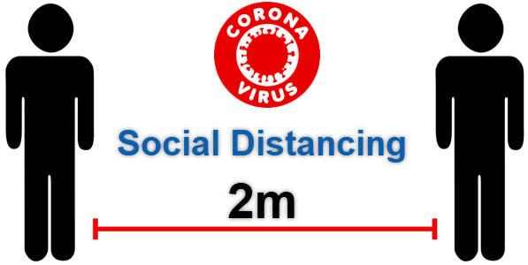 Coronavirus (COVID-19) Social Distancing 2 Meters