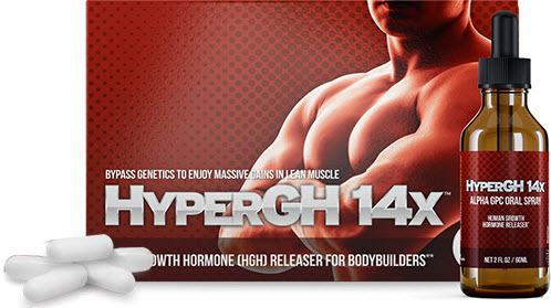 HyperGH14x Growth Hormone Pills and Spray for Bodybuilding
