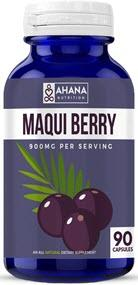 Ahana Nutrition Maqui Berry Capsules – Superfruit Antioxidant Supplement Immune Booster