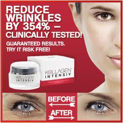 Kollagen Intensiv reduces wrinkles by 354%