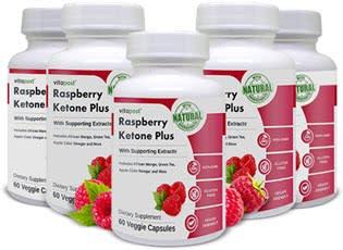 VitaPost Raspberry Ketone Plus 5 bottles
