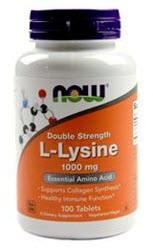 Now Foods L-Lysine - 1,000 mg - 100 Tablets