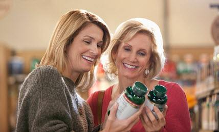 Smiling Middle-Aged Women