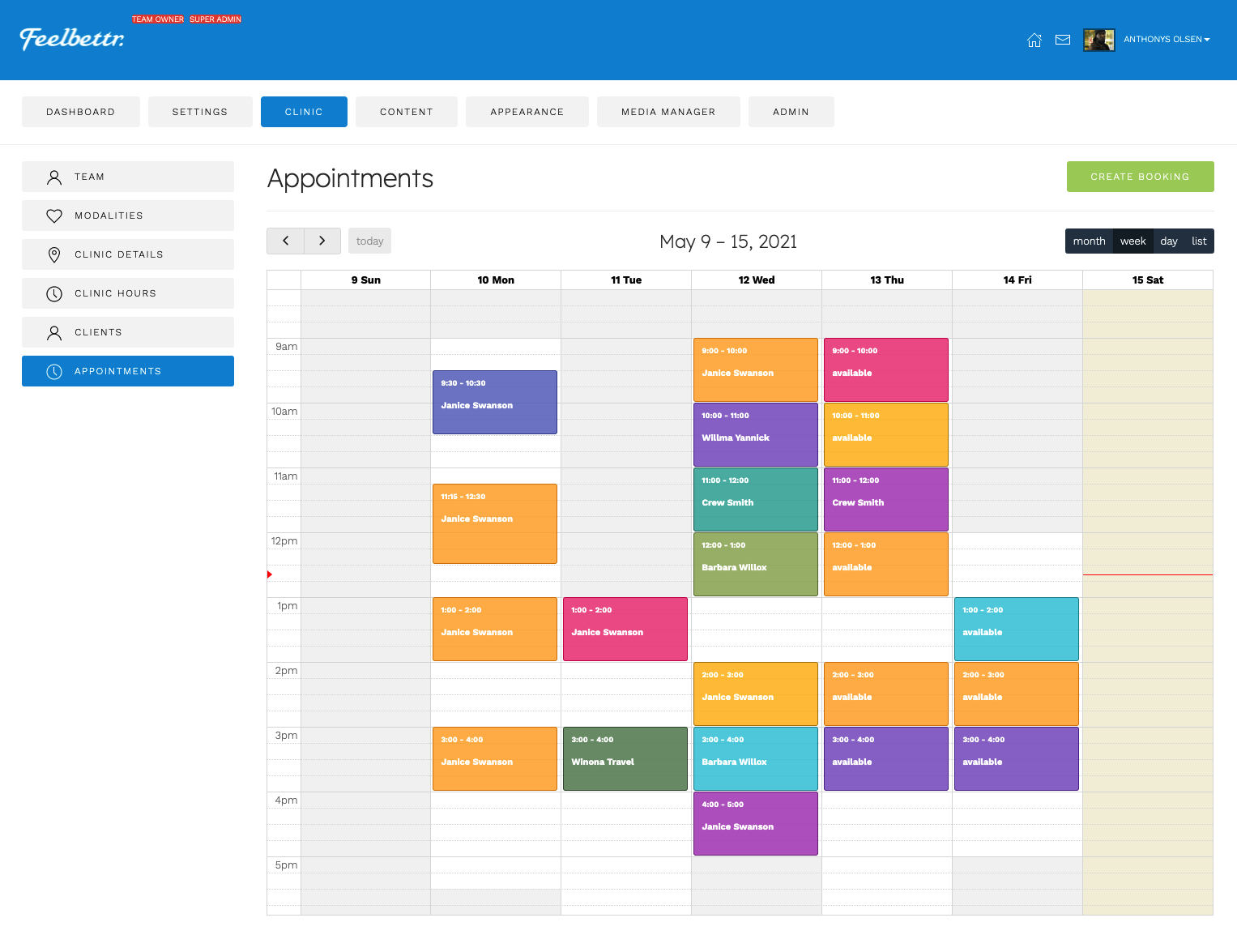 New Appointment Booking System