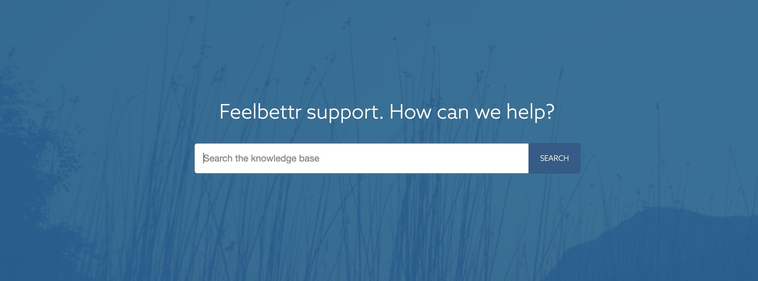 The Feelbettr documentation is taking shape