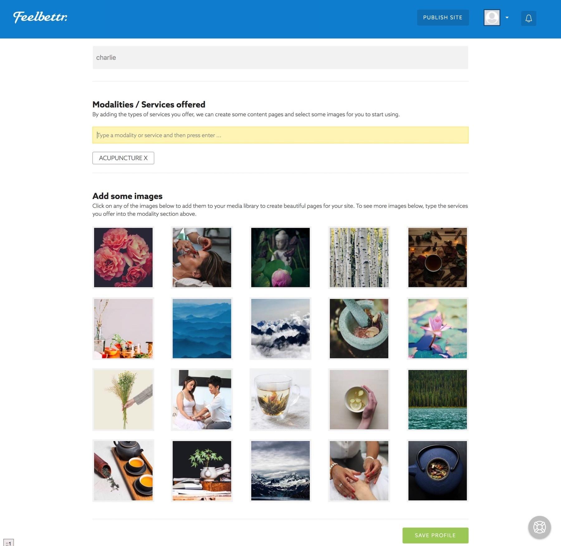 Basic Feelbettr site