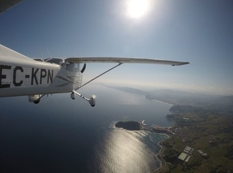 Panoramic flights by plane