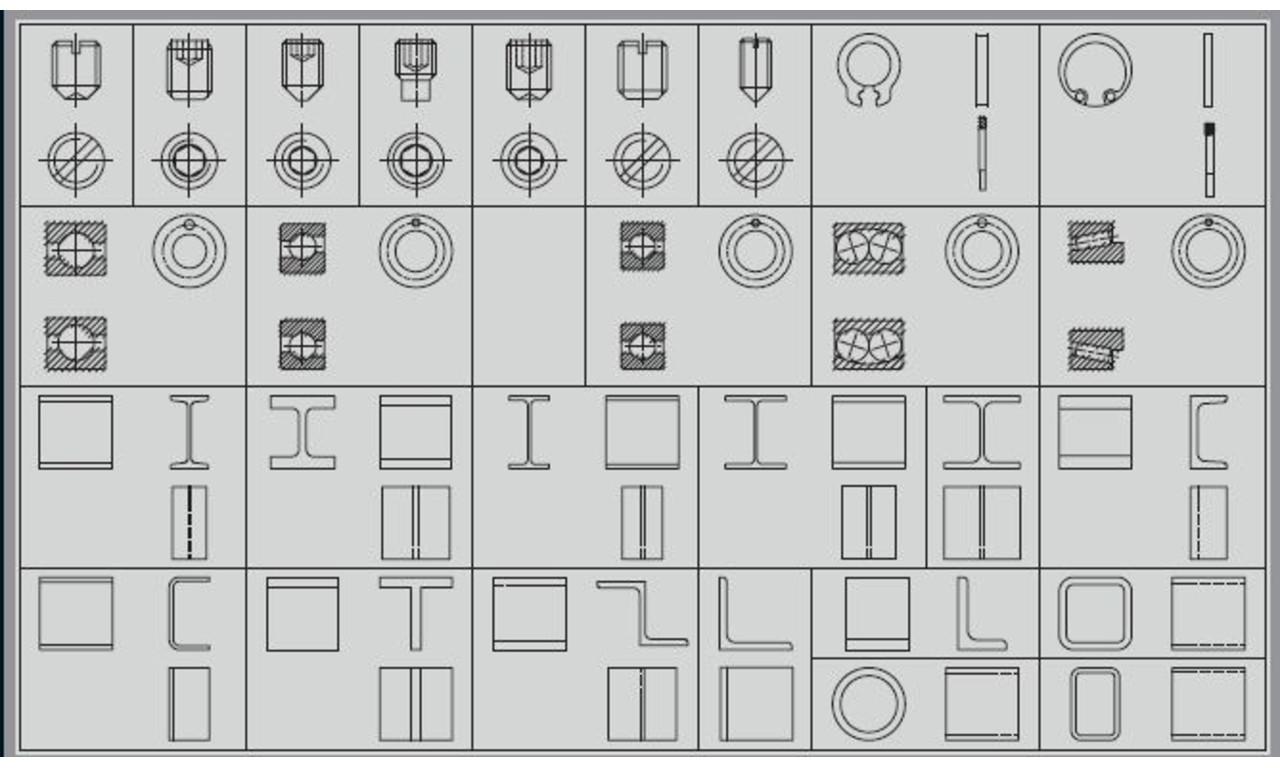 cad symbole maschinenbau preise und anbieter betobia. Black Bedroom Furniture Sets. Home Design Ideas