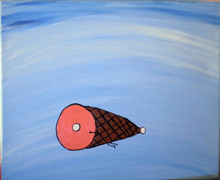 Photo de la toile 'Le Jambon Volant'. (Elle est vraiment belle)