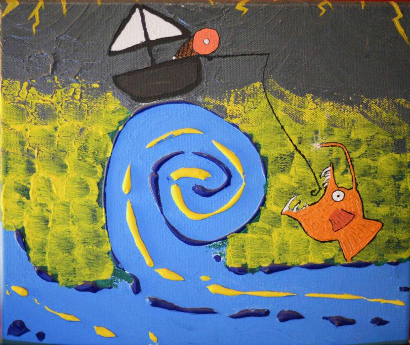 Photo de la toile 'Le Jambon Pêcheur'. (Elle est vraiment belle)