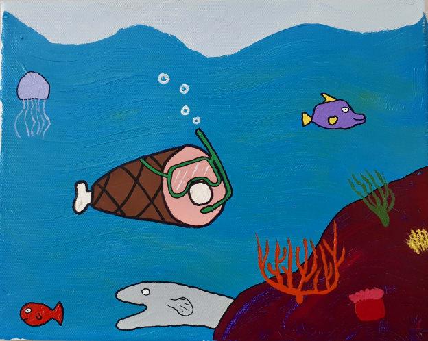 Photo de la toile 'Le Jambon Sous-Marin'. (Elle est vraiment belle)