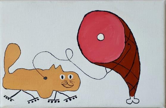 Photo de la toile 'Le Jambon Vétérinaire'. (Elle est vraiment belle)