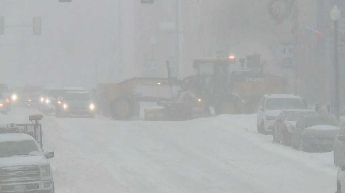 Winter storm in the U.S.