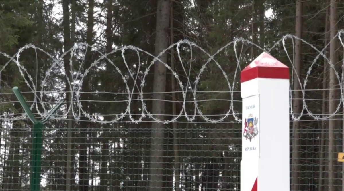 Latvian-Russian border
