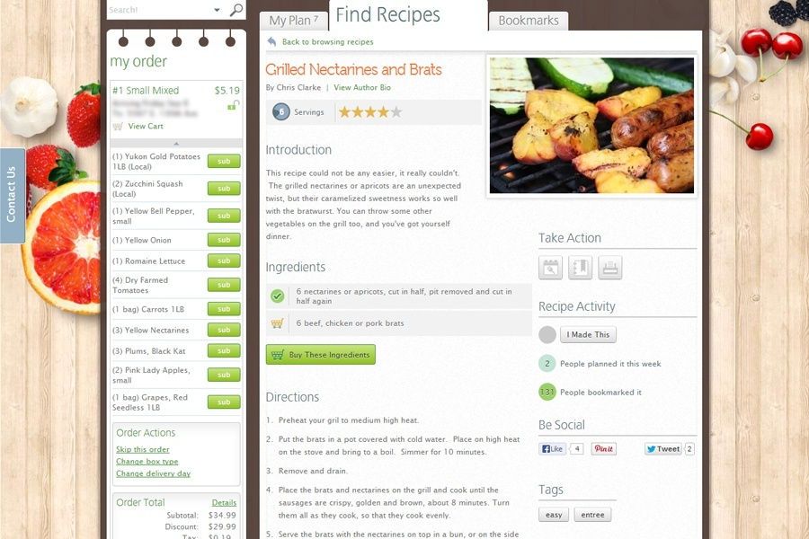 Easy to read recipes.