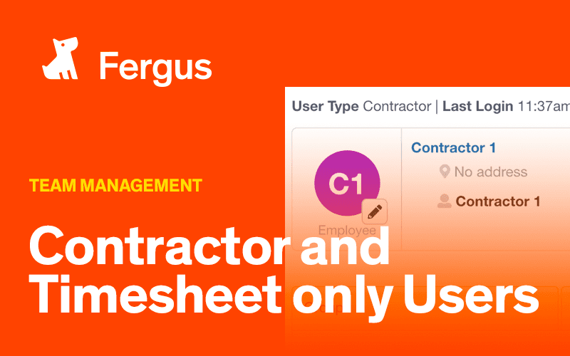 Contractor and Timesheet Only Users