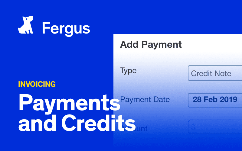 Payments and Credits