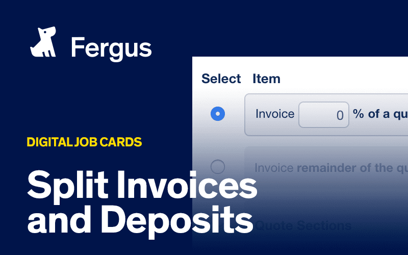 Split Invoices and Deposits