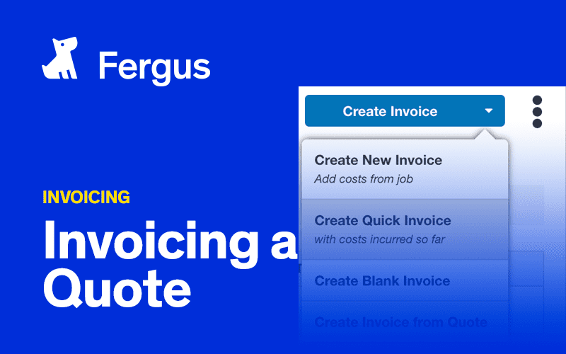 Invoicing a Quote
