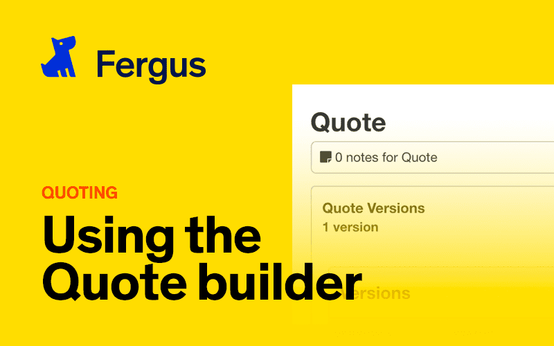 Using the Quote Builder