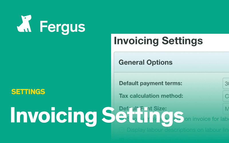 Invoicing Settings